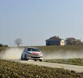 De auto van de verzameling op ras, Citroën ds3 Royalty-vrije Stock Foto