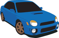 de Auto van de Verzameling van Subaru van jaren '90 stock illustratie
