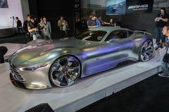 De auto van de Visiegran Turismo van Mercedes-Benz AMG op vertoning bij La A Stock Fotografie