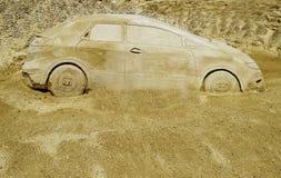 De Auto van de woestijn stock afbeelding