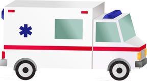 De auto van de ziekenwagen Stock Afbeeldingen