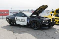 De auto van Ford Mustang Decepticon Police van de transformatorenfilm Royalty-vrije Stock Afbeelding