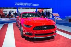 De auto van Ford Mustang GT 2015 op vertoning Royalty-vrije Stock Foto