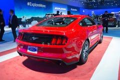 De auto van Ford Mustang GT 2015 op vertoning Stock Foto's