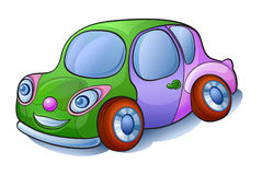 De auto van het beeldverhaal Stock Afbeeldingen
