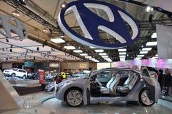De Auto van het Concept van de blauw-Wil van Hyundai Royalty-vrije Stock Afbeelding