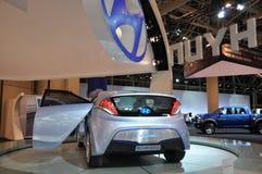 De Auto van het Concept van de blauw-Wil van Hyundai Royalty-vrije Stock Afbeeldingen