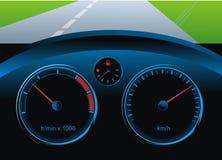 De auto van het dashboard Stock Fotografie