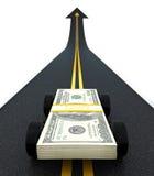De auto van het geld Stock Fotografie