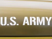 De auto van het het legerpersoneel van de V Stock Afbeeldingen