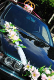 De auto van het huwelijk Stock Foto