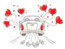 De auto van het huwelijk stock illustratie