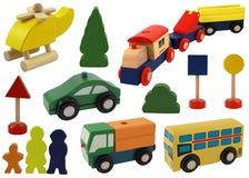 De auto van het stuk speelgoed, helikopter Stock Foto