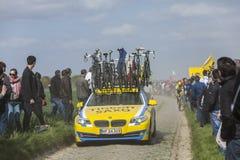 De Auto van het Team van Tinkoff Saxo Royalty-vrije Stock Afbeelding
