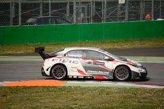 De auto van Honda Civic WTCC in Monza Royalty-vrije Stock Fotografie