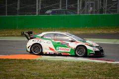 De auto van Honda Civic WTCC in Monza Stock Foto's