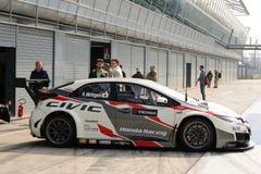 De auto van Honda Civic WTCC in Monza Royalty-vrije Stock Foto's