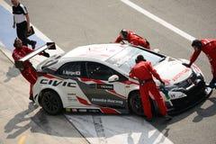 De auto van Honda Civic WTCC in Monza Stock Fotografie