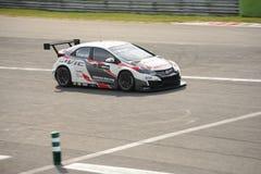 De auto van Honda Civic WTCC in Monza Stock Foto