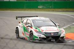 De auto van Honda Civic WTCC in Monza Stock Afbeeldingen
