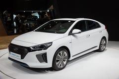 2017 de auto van Hyundai Ioniq Royalty-vrije Stock Fotografie