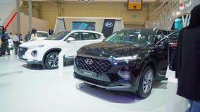 De auto van Hyundai Santa Fe in GIIAS 2018 wordt getoond die