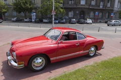 De auto van Karmen Ghia oldtimer Stock Afbeeldingen