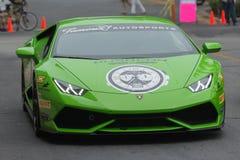 De auto van Lamborghini Huracan op vertoning Stock Foto