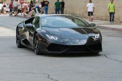 De auto van Lamborghini Huracan op vertoning Stock Foto's