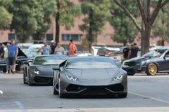 De auto van Lamborghini Huracan op vertoning Royalty-vrije Stock Afbeelding