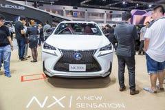 De auto van Lexus NX 300h bij de Internationale Motor Expo 2016 van Thailand Stock Foto's