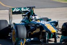 De auto van Lotus f1 Stock Foto's