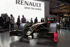 De Auto van Lotus Renault F1 - de Show van de Motor van Genève 2011 Royalty-vrije Stock Afbeeldingen