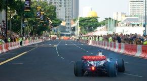 De Auto van McLaren Mercedes van Vodafone F1; Mika Hakkinen Royalty-vrije Stock Afbeeldingen