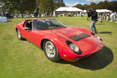 De auto van Muira van Lamborghini vanaf 1967 Stock Foto's