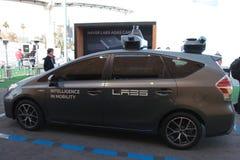 De auto van Naverlaboratoria bij CES 2019 stock afbeelding