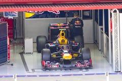 De auto van Red Bull F1 Stock Foto's