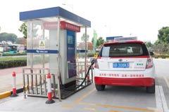 De auto van Shenzhen elektrische het laden posten Stock Afbeeldingen