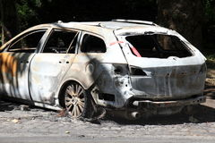 De auto van Torched Royalty-vrije Stock Foto