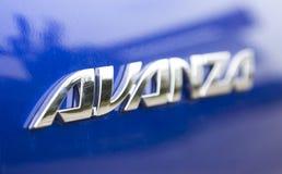 De auto van Toyota Avanza MPV, die binnen een testaandrijving wordt genomen Royalty-vrije Stock Afbeeldingen