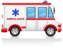 De auto vectorillustratie van de ziekenwagen Royalty-vrije Stock Foto's