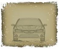 De auto wordt ontworpen. Vector Royalty-vrije Stock Afbeeldingen