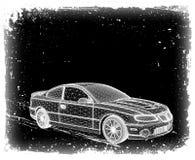 De auto wordt ontworpen. Vector Stock Fotografie