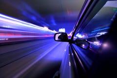 De autoaandrijving van de nacht Royalty-vrije Stock Afbeelding