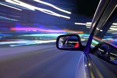 De autoaandrijving van de nacht Stock Foto