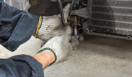 De autoairconditioner van de reparatie Royalty-vrije Stock Foto