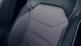 De autobinnenland van het leer Modern auto verlicht dashboard royalty-vrije stock afbeeldingen