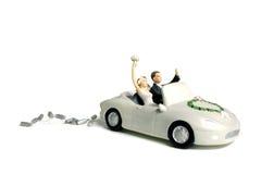De autocake van het huwelijk topper Stock Afbeelding