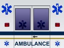 De autoillustratie van de ziekenwagen stock illustratie