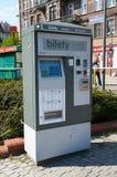 De automaat van het openbaar vervoerkaartje poznan Stock Afbeeldingen